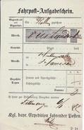 Germany - Postpaketschein / Postal Parcel Ticket (OL843) - Historische Dokumente