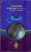Used Phone Cards Iran A.S.K Cal ( 20 000 Ris) - Iran