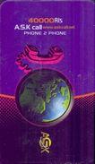 Used Phone Cards Iran A.S.K Cal ( 40 000 Ris)