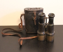 Paire De Jumelles Artillerie Duval Annecy - 1914-1918 - Avec Son étui - Equipaggiamento