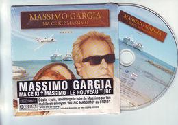 Cd 3 Titres : MASSIMO GARGIA - Ma Ce Ki ? Massimo - Dance, Techno & House