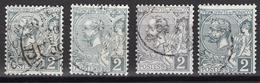 MONACO 1885 / 1914  - LOT Y.T. N° 12 X 4 TP OBLITERES -  FF204 - Monaco