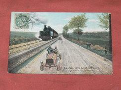 CIRCUIT DE LA SEINE INFERIEURE / DIEPPE 1910/  N° 9   ROUTE  DE DOUVREND AVEC TRAIN A VAPEUR  / EDIT LV & CIE - Dieppe