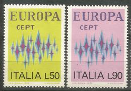 1972 - ITALIA / ITALY - EUROPA CEPT - LE STELLE / STARS - 2 FRANCOBOLLI. MNH - Europa-CEPT