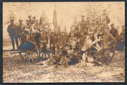 A3084 - Alte Foto Ansichtskarte - Soldat  - Gesangsverein Halbe Lunge - Granate - 1. WK WW - War 1914-18