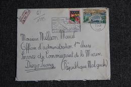Enveloppe Timbrée De TOULON ( VAR ) à DIEGO SUAREZ ( MADAGASCAR ) - Marcophilie (Lettres)
