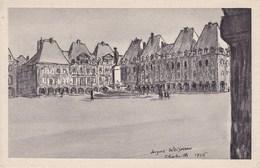 CPA Charleville, La Place Ducale D'apres Un Dessin De J Weismann (pk34191) - Charleville