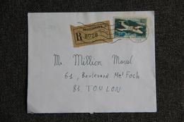 Enveloppe Timbrée Recommandée De DRAGUIGNAN ( VAR ) à TOULON - Marcophilie (Lettres)