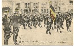 S6151 -Décoration Du 7è De Ligne Après La Bataille De L' Yser -1914 - Guerre 1914-18
