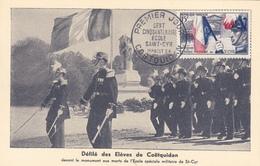 Carte-Maximum FRANCE N° Yvert 996 (SAINT-CYR) Obl Sp 1er Jour (Ed IM) - 1950-59