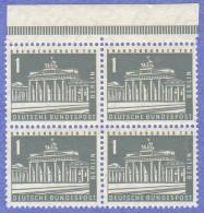 BER SC #9N120 MNH B4, 1956 Brandenburg Gate, CV $1.00 - Unused Stamps