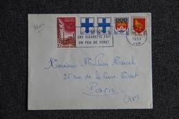Enveloppe Envoyée De TOULON à PARIS - 1921-1960: Période Moderne