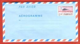 France Entier Postal  EP Aérogramme Avion Concorde Tarif 3,70 - Postal Stamped Stationery