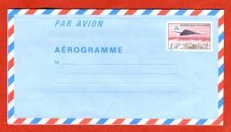 France Entier Postal  EP Aérogramme Avion Concorde Tarif 3,10 - Postal Stamped Stationery