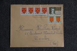 Enveloppe Envoyée De TOULON  à TOULON - 1921-1960: Période Moderne
