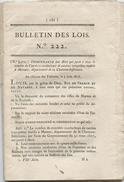 Bulletin Des Lois,1818,Marans, Interprètes,Ecoles Royales Militaires,,Canal St Denis  Et De L'Ourc, Carnoules, Var, - Wetten & Decreten