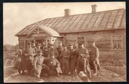 A3125 - Alte Foto Ansichtskarte - Soldaten Offiziere Abzeichen Orden - 1. WK WW - Russland 1916 An Kaisers Geburtstag - Guerra 1914-18