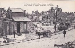 CPA Ruines De Lens, Rues Pasteur Et De Lille, Attelage (pk34225) - Lens