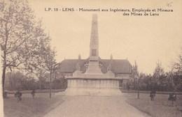 CPA Ruines De Lens, Monument Aux Ingénieurs, Employés Et Mineurs Des Mines De Lens (pk34234) - Lens