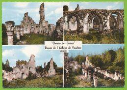 Chemin Des Dames - Ruines De L'Abbaye De Vauclerc Photo Véritable Colorisée - Autres Communes
