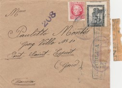 ESPAÑA 1938  Carta   CORREO DE CAMPAÑA Grupo De Maniobras 16 Bateria D.C.A.    Hasta  Francia    EL526