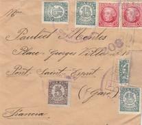 ESPAÑA 1939  Carta   CORREO DE CAMPAÑA  BASE TURIA 3     Hasta  Francia    EL527 - 1931-Today: 2nd Rep - ... Juan Carlos I