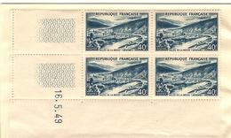 TIMBRES BLOC DE 4 NEUFS VALLEE DE LA MEUSE ARDENNES 40F COIN DATE 16 MAI 1949 - Blocs & Feuillets