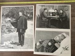 ENV 1900 LE GENERAL BOURBAKI DANS SON JARDIN A BAYONNE DANS SON LIT DE MORT - Colecciones