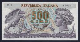 """1966 ITALIA 500 LIRE """"TESTA DI ARETUSA"""" (DECRETO 20-06-1966) FDS - 500 Lire"""