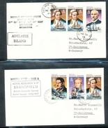 British Antarctic Territory Explorers Ships On Cover Rothera Point Adelaide Island Ship Bransfield 1979-78 A04s