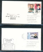 British Antarctic Territory Research Ship Branson  Explorers Ships On Cover Rothera Point Adelaide Island 1979 A04s