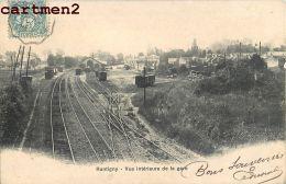 RANTIGNY INTERIEURE DE LA GARE TRAIN LOCOMOTIVE 60 OISE - Rantigny