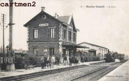 ROCHY-CONDE INTERIEURE DE LA GARE TRAIN LOCOMOTIVE 60 OISE - Non Classés