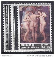 PINTURA - GUINEA ECUATORIAL 1991 - Edifil #136/8 - MNH ** - Rubens
