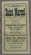 Affiche De La  Fête De La Saint Marcel  à Barjols (83)    16/18 Janvier 1965 - Posters