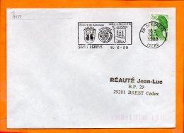 ISERE, St Egrève, Flamme SCOTEM N° 9153, Jumelage Avec Castillo De La Citta San Marino - Oblitérations Mécaniques (flammes)