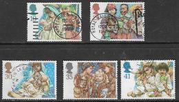 GB SG1843-1847 1994 Christmas Set 5v Complete Good/fine Used [33/28791/25D] - 1952-.... (Elizabeth II)
