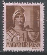 Hungary 1943. Scott #604 (M) Janos Hunyadi (1407-1456), Hungarian Military * - Hongrie