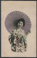 Japan Geisha Kimono Postcard - Asia