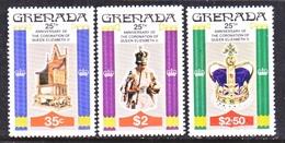 GRENADA  873-5  **  25th ANNIV.  CORONATION - Grenada (1974-...)