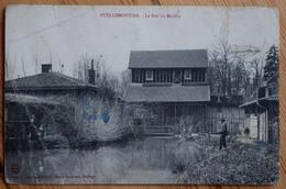 52 : Puellemontier - Le Bief Du Moulin - Animée : Pêcheurs à La Ligne - Mauvais état : Voir Description - (n°7788) - France