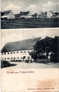 Gruß Aus Feigenhofen Bei Biberbach - Augsburg 1910 2 Ansichten - Augsburg