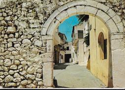 GRECIA - PARGA - STRADA PITTORESCA - VIAGGIATA 1980  FRANCOBOLLO ASPORTATO - Grecia