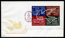 A4617) Romania Rumänien FDC Weltraumforschung Mi. Block 53 - 1948-.... Republiken