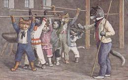 """Illustration D'Arthur Thiele - """"Turnen, Stabübungen"""" - T.S.N. Série 1677  (6. Dess.) - Thiele, Arthur"""
