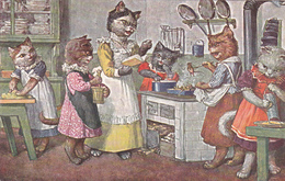 """Illustration D'Arthur Thiele - """"Kochschule"""" - T.S.N. Série 1677  (6. Dess.) - Thiele, Arthur"""