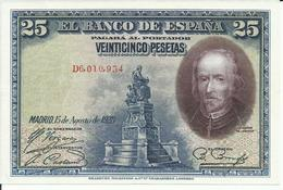 BILLETE 25 PESETAS  15/08/1928  ( SIN CIRCULAR) - [ 1] …-1931 : Eerste Biljeten (Banco De España)