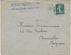Env. VENOT Frères & Cie - Perf. VF 27 Sur 137 - Perfins