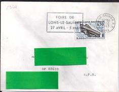 YT1368  SSL AFN AU TARIF OBL. LONS LESAUNIER 1/2/63 FL/FOIRE 27 AVRIL/5MAI - 1961-....