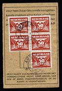 A4619) Netherlands Indies Formularteil Amsterdam 7.1.46 - 1891-1948 (Wilhelmine)